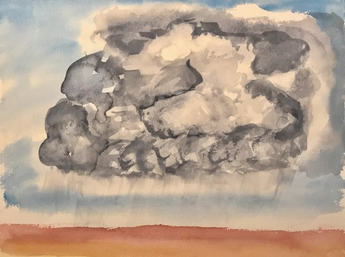 Watercolor: Abstract - My Concept of Cloud Formation