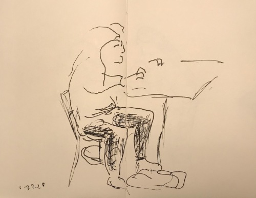 Sketch: Pen and Ink - Not Ergonomic