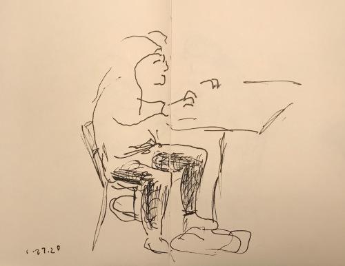 Sketch: Pen and Ink - Not Ergonomic