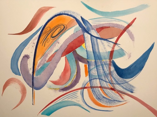 Watercolor: Abstract - Open Lines
