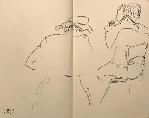 Sketch: Pen and Ink - Portraits from the Back