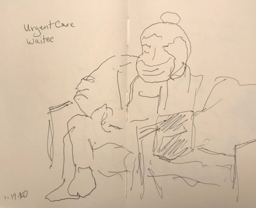 Sketch: Pen and Ink - Urgent Care Waitee