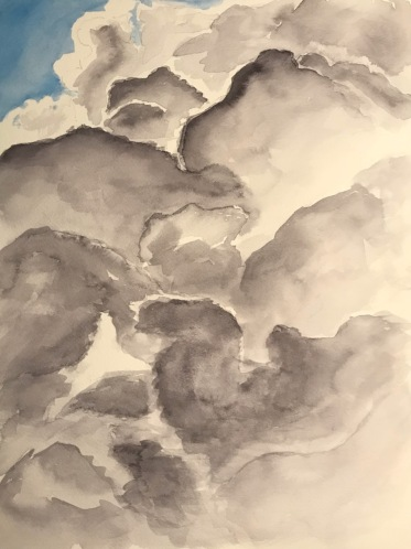 Watercolor: Clouds - Watercolor Clouds from Photograph