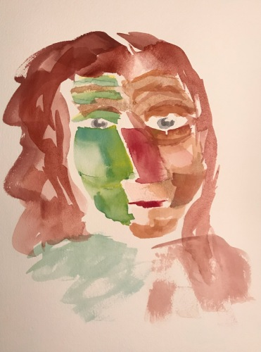 Watercolor: Portrait - Woman's Head #1