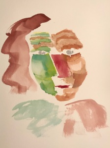 Watercolor: Portrait - Woman's Head #2 011420