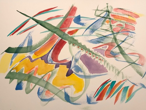 Watercolor: Abstract - Color Threads