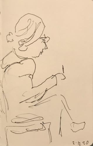 Sketch: Pen and Ink - Going Through the Motions