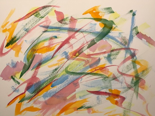 Watercolor: Abstract - Layers of Frustration