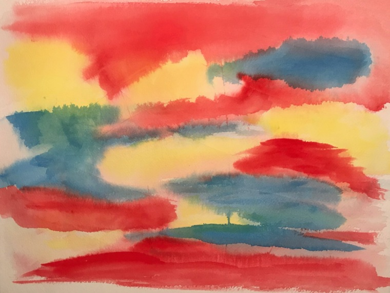 Watercolor: Abstract - Patchwork Sky