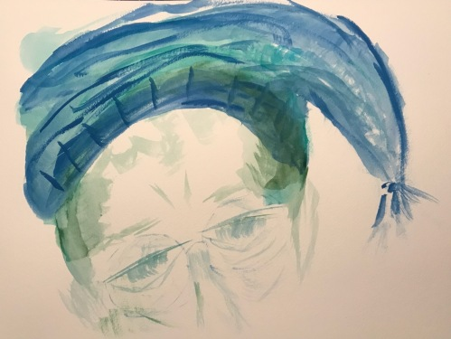 Watercolor: Portrait - Self Portrait with Night Cap