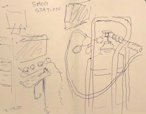 Sketch: Pen and Ink - Smog Station