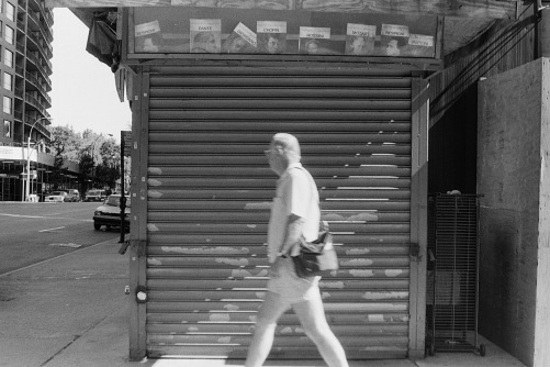 Photography: Vintage Photo: Closed Newsstand at 57h Street and 7th Ave, NYC 1991