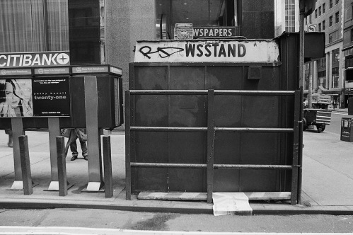 Photography: Vintage Photo: Newsstand and Phone Kiosks, NYC 1991