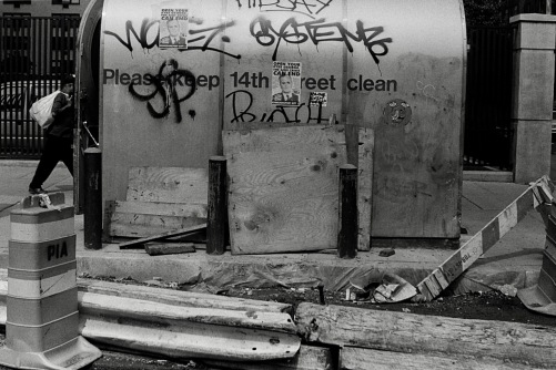 Photography: Vintage Photo: Newsstand with AIDS Era Posters and Graffiti circa 1990s