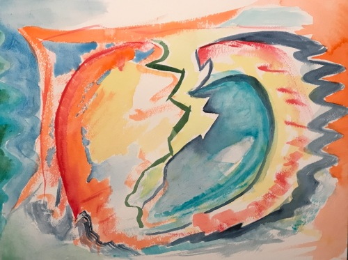 Watercolor: Abstract - Broken World