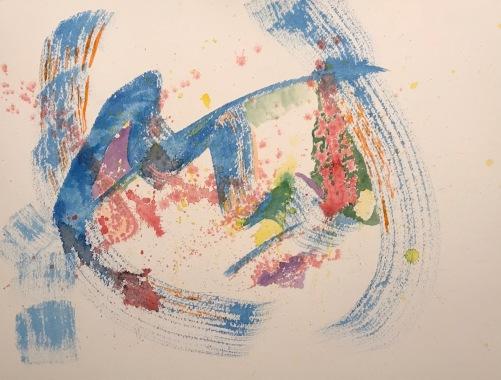 Watercolor: Abstract - Feeling Sick