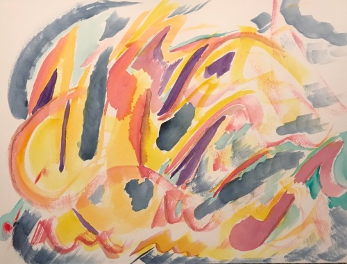 Watercolor: Abstract - Fractured Music