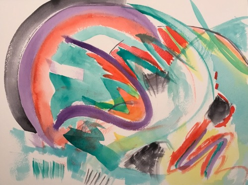 Watercolor: Abstract - Ides of March 03152020