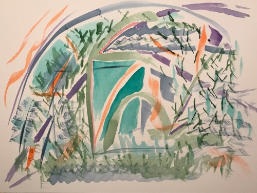 Watercolor: Abstract - Overgrowth