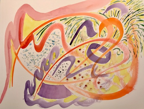 Watercolor: Abstract - Under the Skin