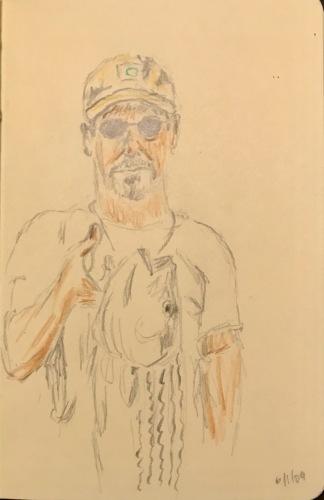Sketch: Vintage Drawing: Jack's Ocean Striper 6.1.2009