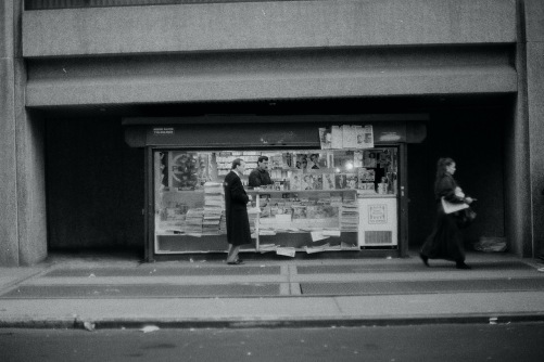 Photography: Street Photography - Vintage Photo: Newsstand Series, New York City 1990