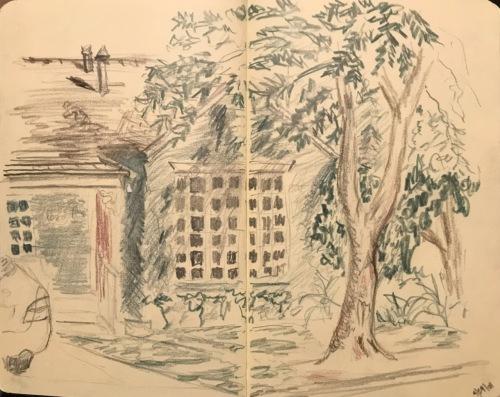Sketch: Vintage Sketch: House 3.29.2008