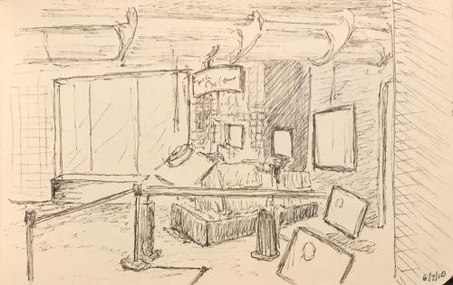 Sketch: Vintage Sketch - Museum Exhibit 6.7.2010
