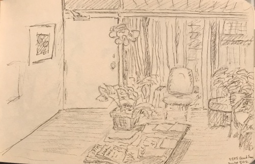 Sketch: Pencil/Ink - Vintage Waiting Room Sketch
