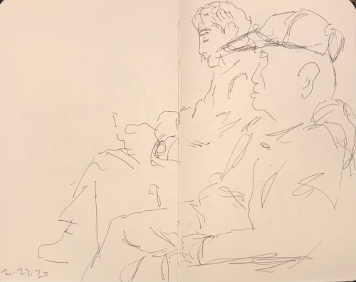 Sketch: Pen and Ink - Waiting Room Profiles