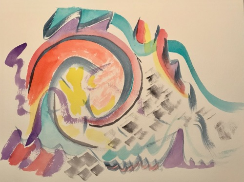 Watercolor: Abstract - Waves and Eddy