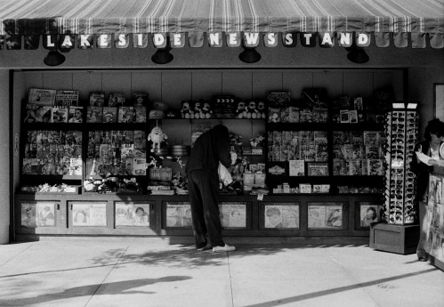 Photography: Vintage Photo: Lakeside Newsstand Unknown Location circa 1990
