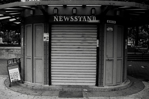 Photography: Vintage Photo: Round Newsstand, NYC circa 1990s
