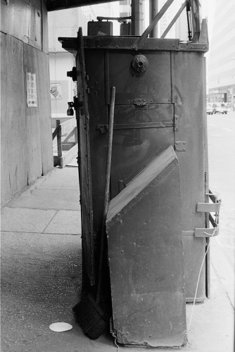 Photography: Vintage Photo: Locked Newsstand (Side View) NYC, Lexington Near Grand Central Circa 1990s