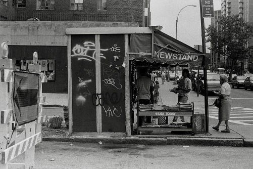 Photography: Vintage Photo: Newsstand New York City Looking South on 19th Street and 1st Avenue circa 1990
