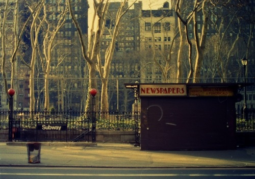 Photography: Vintage Photo: Bryant Park Newsstand circa 1990s