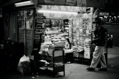 Photography: Vintage Photo: Newsstand at Night, NYC circa 1990s