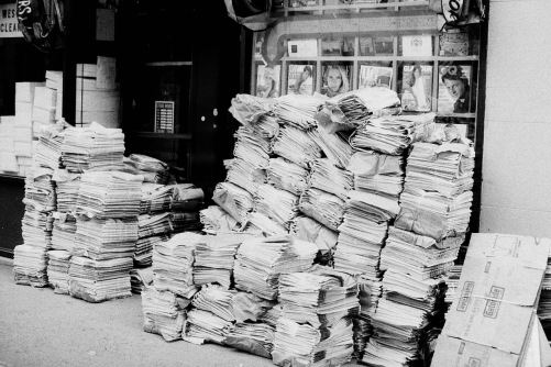 Photography: Vintage Photo: Newsstand - Delivery Day, NYC circa 1990