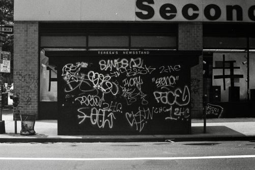 Photography: Vintage Photo: Teresa's Newsstand and Graffiti, NYC Circa 1990s