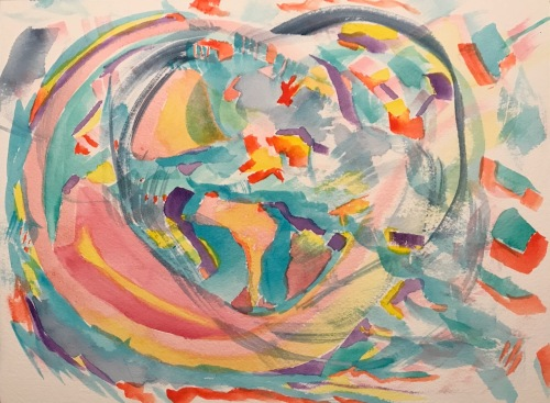 Watercolor: Abstract - Big Hearted