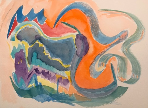Watercolor: Abstract - Embrace Your Inner Dragon