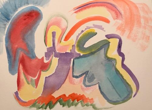 Watercolor: Abstract - Honky Tonk Woman