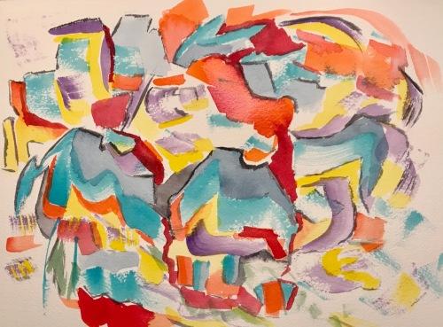 Watercolor: Abstract - Irregular Shapes