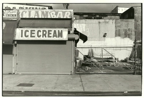 Photography: Vintage Photo: Ice Cream Clam Bar, Coney Island NY circa 1990