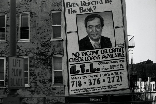 Photography: Vintage Photo: Billboard on Side of Building, NYC Late 1980s