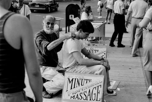 Photography: Vintage Photo: By The Minute Massage, NYC 1988