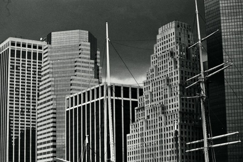 Photography: Vintage Photo: Architecture Adjoining South Street Seaport, NYC 1988