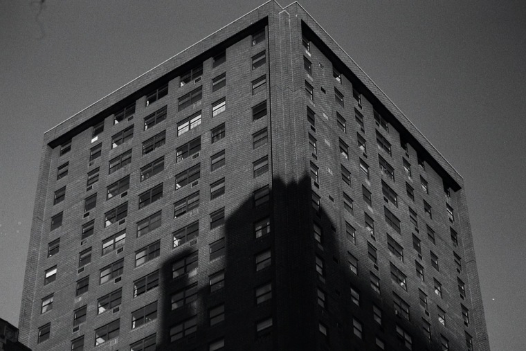 Photography: Vintage Photo: Building Shadow with Windows; NYC 1988