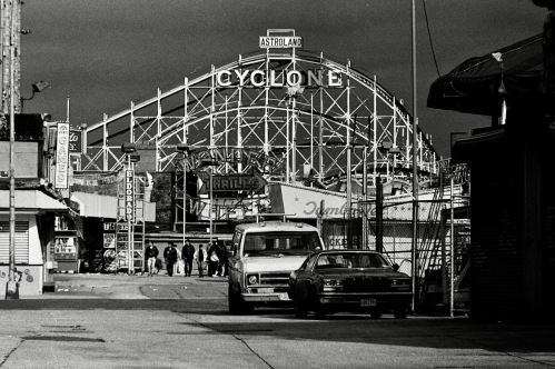 Photography: Vintage Photo: The Cyclone at Coney Island, NY Early 1990s