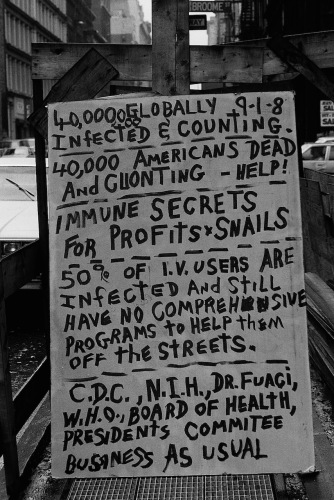 Photography: Vintage Photo: AIDS Protest Poster, NYC, September 1988